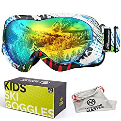 827d320052dc OutdoorMaster Kids Ski Goggles feature a soft TPU frame and crack resistant  lens
