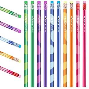 Agarres para Lápices, Agarrador de Lápiz, 12 Pieces Adaptador Lapiz para Niños, Corrección de Postura Soporte de Lápices…