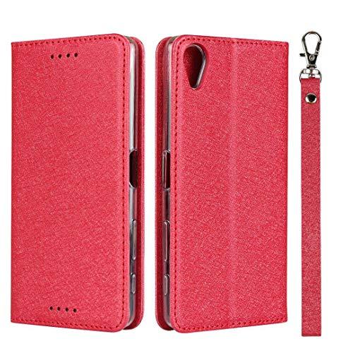 GIMTON Sony Xperia X Performance Hülle, Brieftasche Hülle mit Klapp Ständer und Magnet Verschluss für Sony Xperia X Performance, Stoßfest Kratzfestes PU Leder Schutzhülle, Rot