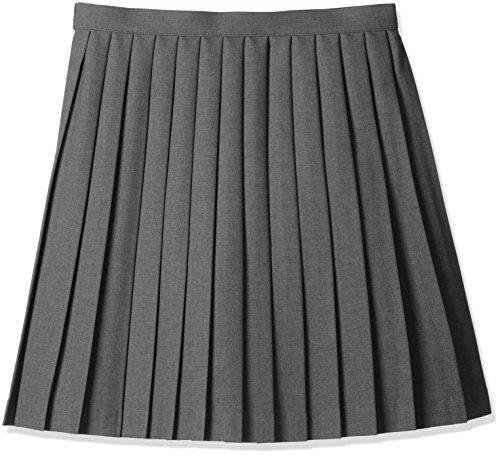 [キューポップ]丈が選べる無地プリーツスカート(スクール・制服・学生服)(防シワ・洗濯機OK)TN-150ガールズグレー47-76