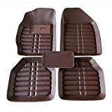 BYWWANG Alfombrillas universales de Cuero para Coche Almohadilla para pies Impermeable y Resistente al Desgaste, para Volvo 850 c30 s40 s60 s80 s80l v40 v50 v60 v70 xc60 xc70 xc90
