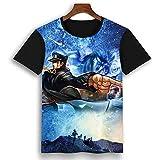 ACBANANA Short-Sleeved T-Shirt Jojos Bizarre Adventure Character Print T-Shirt 3D Printed Crew Neck T-Shirt (Men Women)