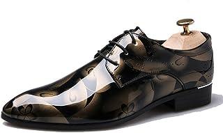 [KLOSS] ビジネスシューズ メンズ 個性的 花柄 革靴 ウォーキング ドレスシューズ 紳士靴 カジュアル 防滑 通勤 就職 結婚式