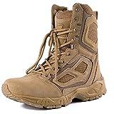 LEIKEI Botas Tácticas Combate Montañismo Transpirables para Exteriores Zapatos Verano para El Desierto Botas Ligeras Senderismo para Hombres