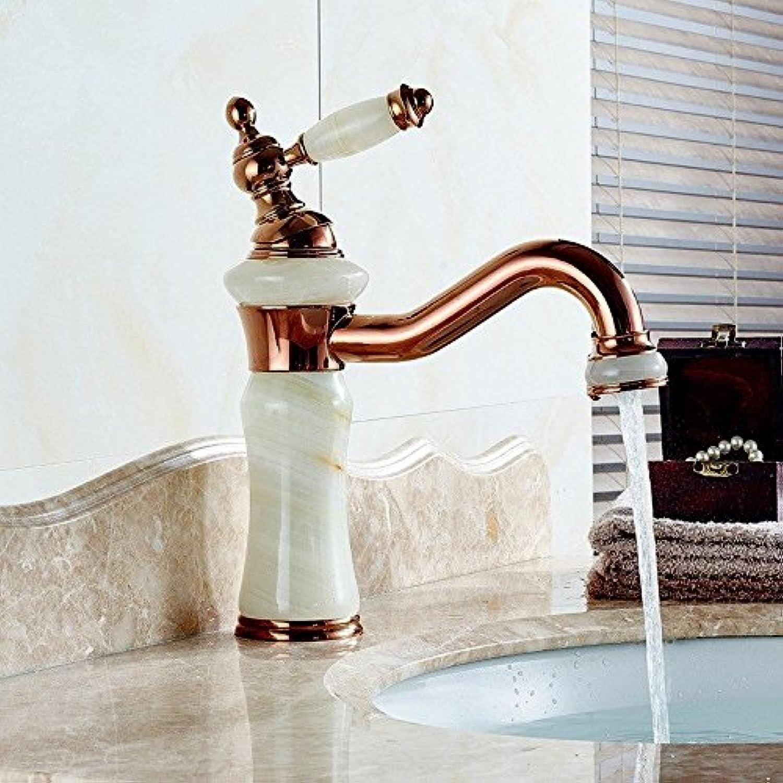 ETERNAL QUALITY Bacino del bagno lavandino rubinetto in ottone Miscelatore rubinetto bagno Miscelatore Toccare la Giada gold antico lavello vanità rubinetto pink gold Rubi