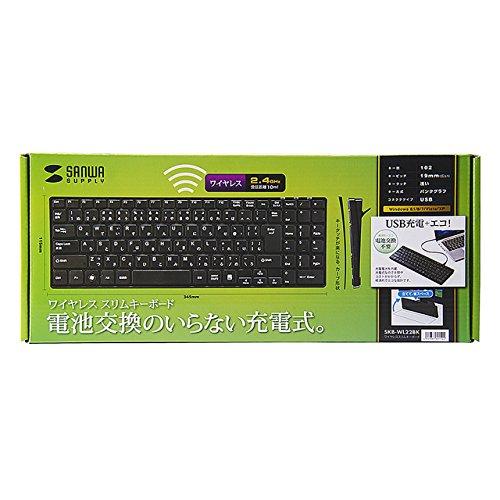 サンワサプライワイヤレススリムキーボードブラックSKB-WL22BK