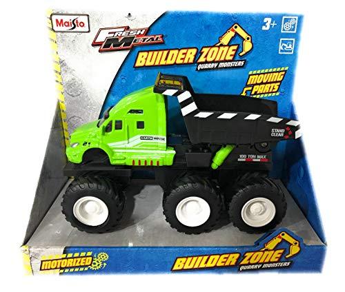 Fresh Metal Builder Zone Quarry Monsters Dump Truck by Maisto Fresh Metal
