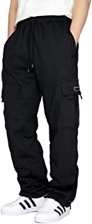 URBANJ Men's Fleece Cargo Sweatpants Heavyweight Size S-5XL
