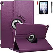 iPad Mini 3 Case with Screen Protector and Stylus - iPad Mini 3/2/1 Case Cover - 360 Degree Rotating Stand with Auto Sleep/Wake for Mini 1st/ 2nd/ 3rd Generation - A1599 A1600(Purple)