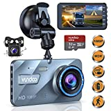 Dash Cam Front and Rear,Dash Cams for Car 1080P Full HD 4'' Big