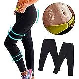 Dr.CURVY Pantalones Deportivos Mujer, Neopreno Sauna Leggins Anticeluliticos Cintura Alta Mallas Fitness Push Up para Deporte Running Yoga Gym