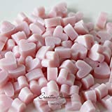 Florex Schafmilchseife rosa mini mini Herz 100 Stück Magnolie Seife im Organzasäckchen...