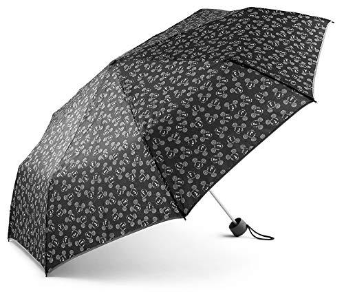 Baagl Mickey Mouse Regenschirm - Taschenschirm Leicht und Kompakt - Schirm Windsicher und Stabil (Mickey)