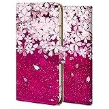 F-06F ケース 手帳型 らくらくスマートフォン 3 カバー おしゃれ かわいい 耐衝撃 花柄 人気 純正 桜の花wx05 シンプル フラワー ファッション 7190811