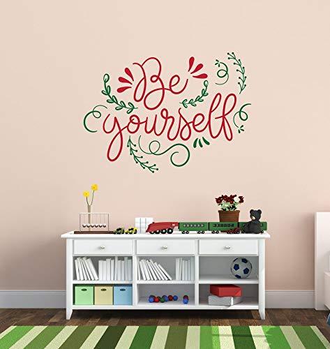 Décoration murale simple et subtile en vinyle avec citation inspirante pour salle de jeu, robuste, garçon, fille, n'importe quelle pièce