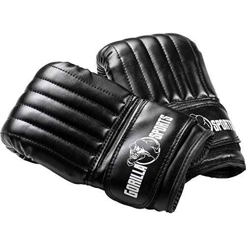GORILLA SPORTS Boxhandschuhe Trainings-Handschuhe Sandsack-Handschuhe dünn schwarz S-L Größe S