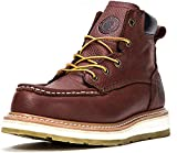 ROCKROOSTER Work Boots for Men, Soft Toe Waterproof Safety Working Shoes(AP360-soft, 10-BRN)