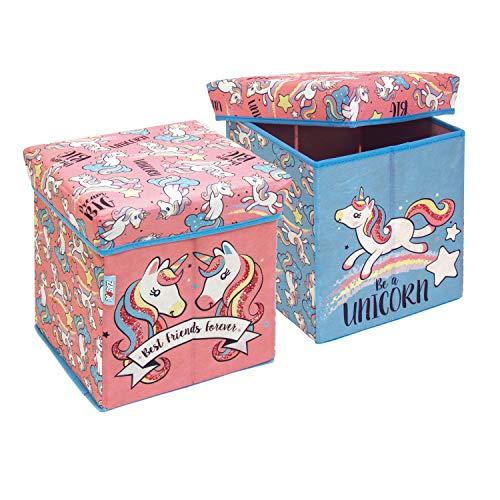 ARDITEX Caja Guardatodo Unicornios