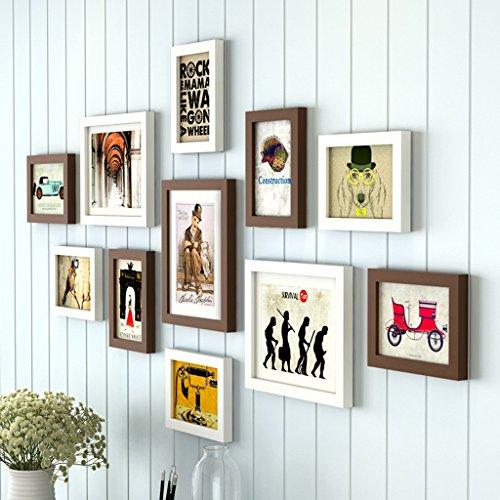 Cadre décoratif 11 Pcs/ensembles ensemble de cadre photo collage, cadres photo, cadres photo pour mur (Couleur : B)