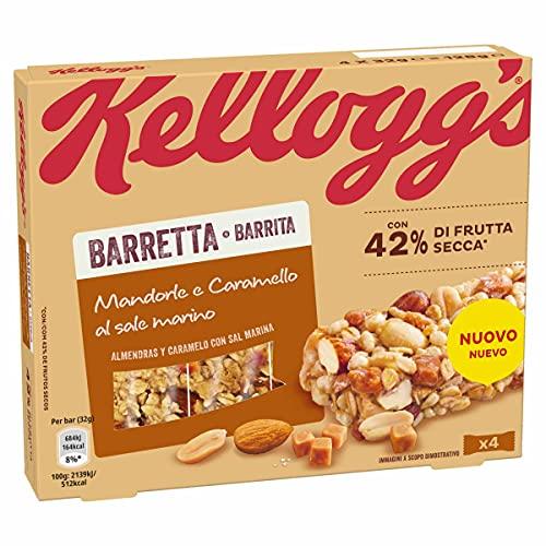 Kellogg's Barretta Sea Salted Caramel e Mandorle 4x32 gr