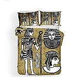 JTBDWOSS Tótem del Faraón Egipcio De Dibujos Animados Ropa De Cama De...