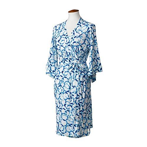 LÍLLÉbaby Cozy Robe for Maternity & Post-Partum Comfort, Shibori - L/XL