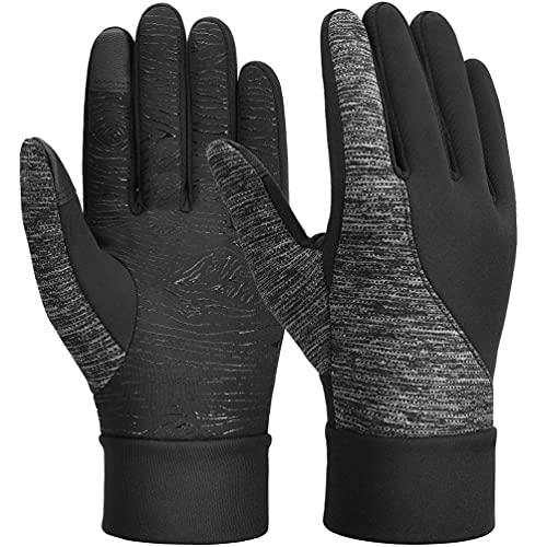 Winterhandschuhe Herren Warm Touchscreen Handschuhe - Anti-Rutsch Verdickte Radhandschuhe Herre Dame Winddicht Vollfinger Fahrradhandschuhe für Outdoor Sport Fitness Fahrrad Motorrad Laufen