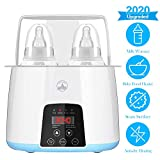 Baby Bottle Warmer for Breastmilk Formula Baby Food Bottle Warmer and Sterilizer with Timer LCD Touch Screen – 5 in 1 Fast Bottle Warmer Double-Bottle Designed