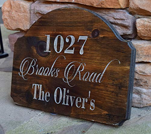 Address Sign - Address Plaque - Rustic Home Decor - Personalized Gift - Outdoor Address Sign - Family Established Sign - Engraved Address