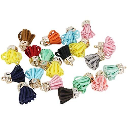SLZC 25 mm borlas de Cuero Vintage/Accesorios de joyería/hallazgos de joyería/Accesorios for Pendientes (Color : Natural)