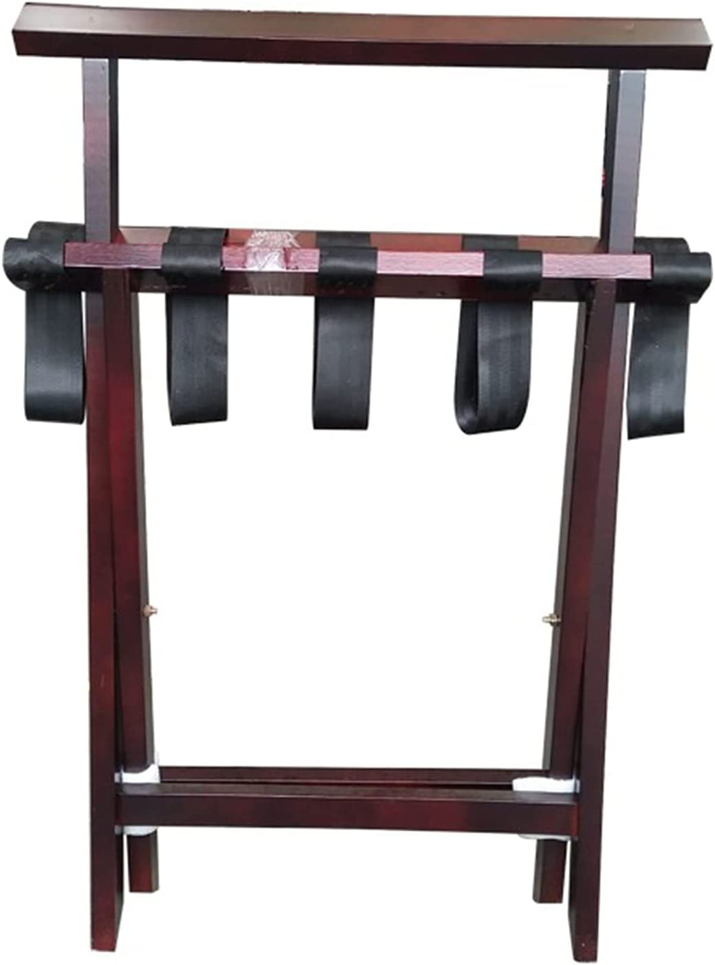 Lowest price challenge ZXFF Luggage Rack Bracket Hotel Room Foldable Year-end annual account Luggag Solid Wood