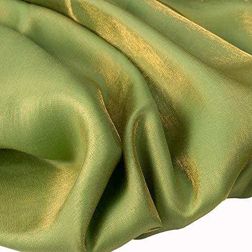 ZSYGFS 150 Cm De Ancho Tela De Raso Forro De Tela SatéN para Vestidos De Novias Fundas Artesanías Vestidos Blusas Ropa Interior Vendido por Metro(Color:Verde Aguacate)