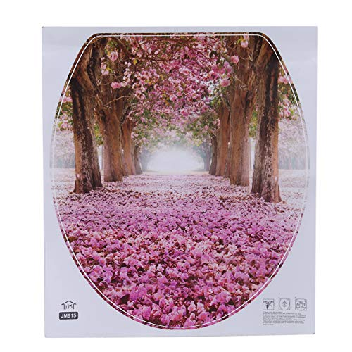 Bigsweety Kreative Abnehmbarer Toilettendeckel Aufkleber Wc Sitzbezug Wandbild Poster Aufkleber (Blume)