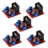 ANMBEST 五点セット L298NダブルHブリッジDCステッパーモータードライバーコントローラーボード Arduinoスマートカー UNO R3 Raspberry Pi Mega2560用