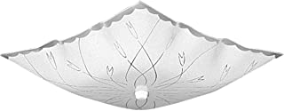 Progress Lighting P4962-30 Traditional Two Light Close-to-Ceiling from Square Glass Collection in White Finish, 12-Inch Diameter x 5-1/2-Inch Height
