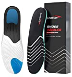 Caomaer Plantar Fasciitis Arch Support Insoles for Men and Women, All Day Shock Absorption for Running Athletic Basketball Sports, Orthotic Inserts Shoe Cousion for Relieve Heel Foot Pain, Flat Feet