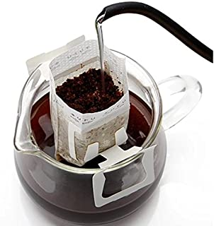 Modern By Design Pack of 100 Premium Single Serve Food Grade Disposable Hanging Ear Drip Filter Bag, Portable use for the home, outdoor, travel, camping, office, and on the go (100, Coffee Filter)