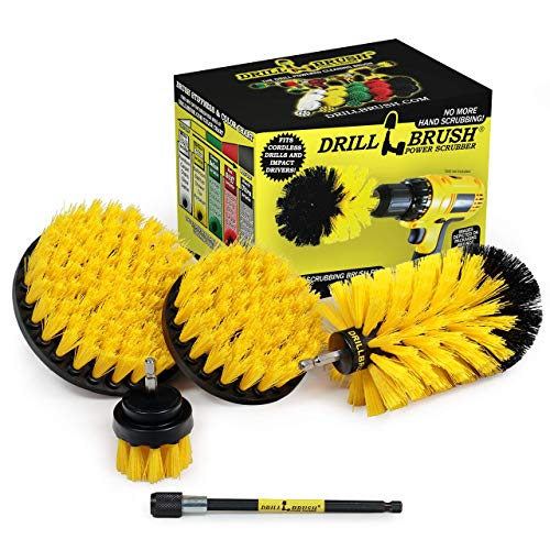 Drillbrush 5 Piece Bundle – Save 30% with Our Bundle – Add a 5-inch Flat Brush to Our 4 Piece Bathroom Drill Brush Attachment Set
