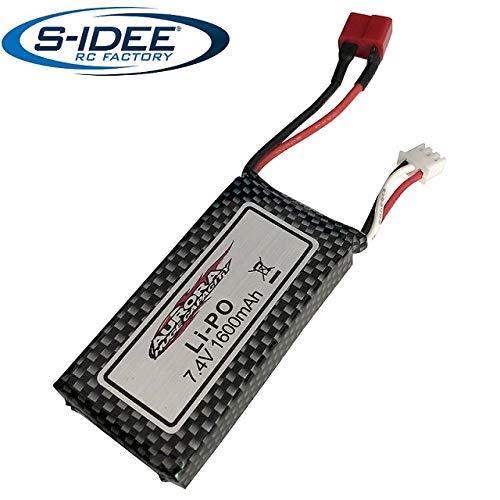 s-idee® 18181 7.4V 1600mAh Power LiPo Akku für RC Fahrzeuge 9125 18173 1:10 S9125 Ersatzakku