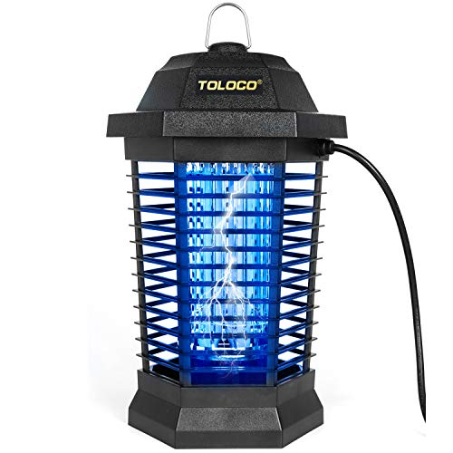 HEMIUA Bug Zapper Pro Outdoor Mosquito Killer - Insect Killer Bug Fly Pests Attractant Trap Patio for Outdoor and Indoor Hangable-Black