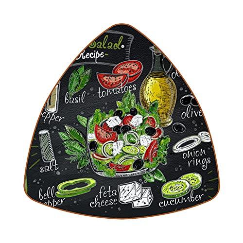 Bennigiry Juego de 6 posavasos con diseño de ensalada griega
