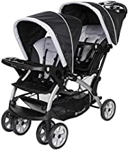 Baby Trend Sit N' Stand Convenience Easy Fold Compact Lightweight Travel Toddler & Baby Twin Double Stroller, Stormy