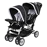 Baby Trend Sit N' Stand Convenience Easy Fold Compact Lightweight Travel Toddler & Baby Twin Double Stroller,...