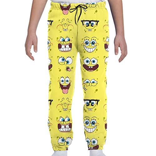 Gfiusgh Spongebob Sweatpants Youth Sleep Sweatpants -Sports Joggers Pants Happy face Pants Funny Sleep Sweatpants.