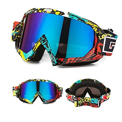 Nicole Knupfer Skibrille Motorradbrillen Schutzbrille,Winter Schnee Sport Snowboardbrille,Skibrille Für Damen Und Herren Jungen Und Mädchen (Mehrfarbig)