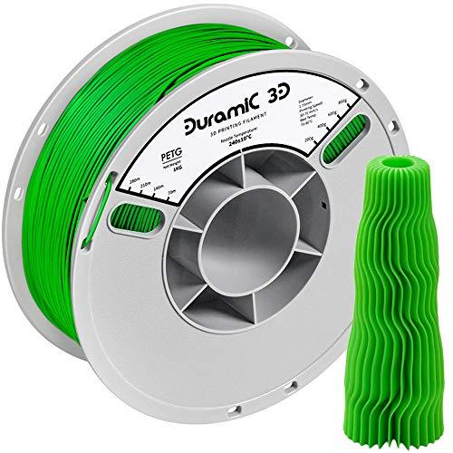 DURAMIC filamento para impresora 3D PETG de 1,75 mm, verde, filamento de impresión 3D, bobina de 1...
