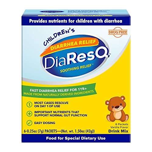 DiaResQ Childrens Soothing Diarrhea Relief - (Vanilla, 6 ct) Fast-Acting Diarrhea Relief that is Safe, Drug-Free, and Effective in Relieving Diarrhea for Children 1 Yr. and Older