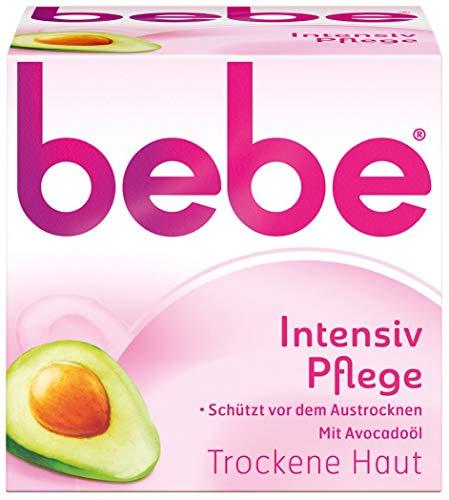 bebe Intensiv Pflege - Sanfte Feuchtigkeitscreme für trockene Haut - mit Avocadoöl und Sheabutter - 1 x 50ml