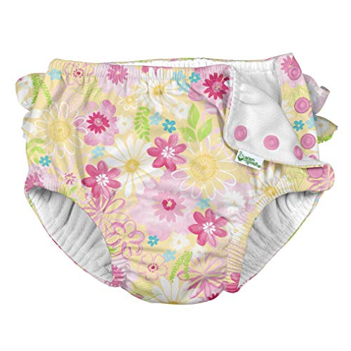 i Play Girls Swim Diaper Watercolor Floral-18 Months