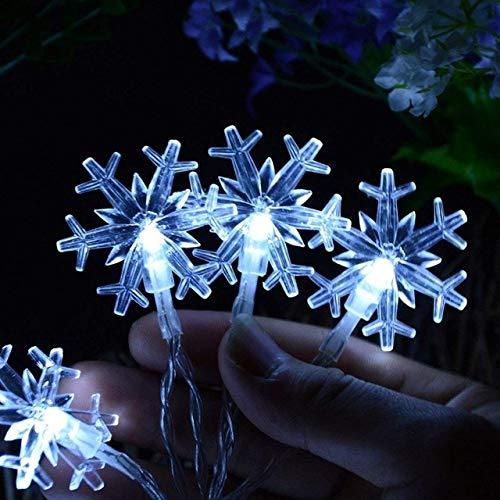 Lichtketting, lichtring, lichtstrip, led-sneeuwvlok lichtsnoer sneeuwfee slinger kerstboomdecoratie Nieuwjaarskamer Valentijnsdag batterijstekker